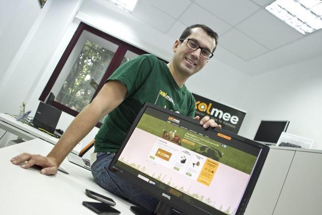 Uno de los socios fundadores de Kolmee Javier Rodríguez, en sus...