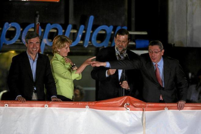 Esperanza Aguirre, Mariano Rajoy y Alberto Ruiz-Gallardón