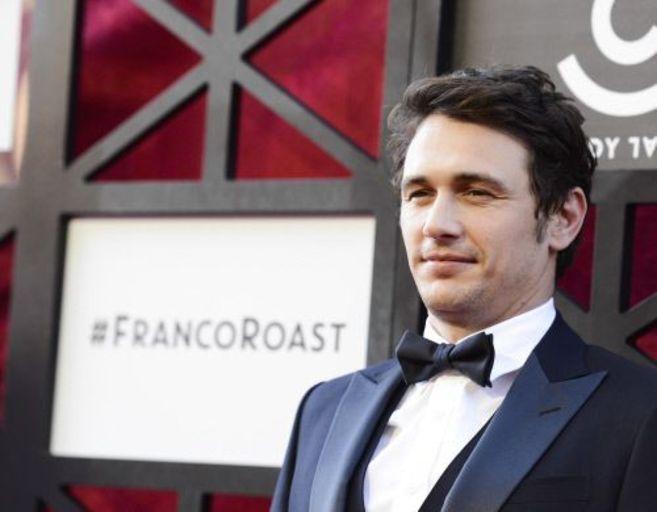 El actor James Franco durante un acto en la ciudad de Culver