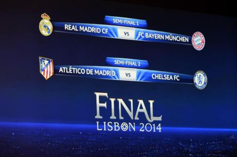 Imagen del cuadro de semifinales.