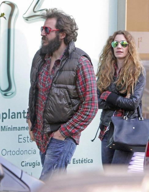 Borja y Blanca Thyssen, paseando por las calles de Madrid hace un mes.