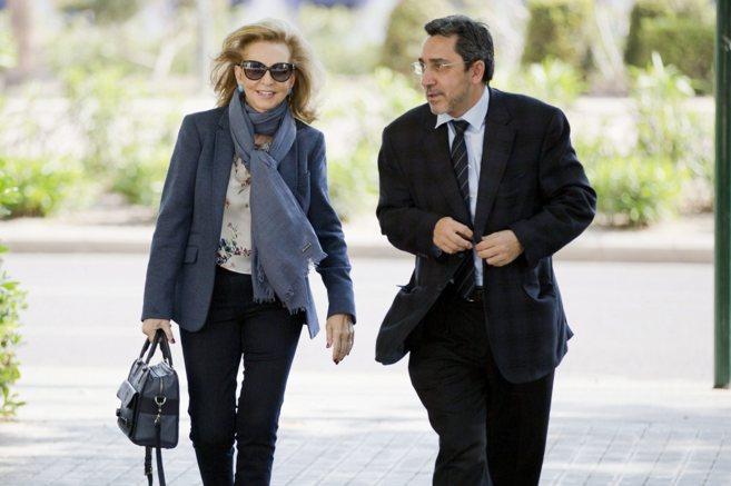 Mayrén Beneyto, a su entrada a la Ciudad de la Justica para ser...