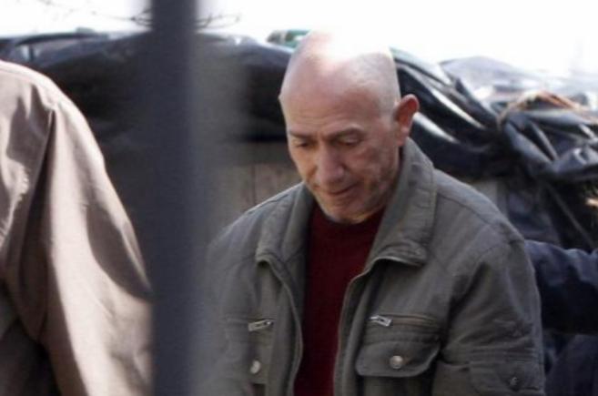 Félix Vidal Anido, tras ser detenido.