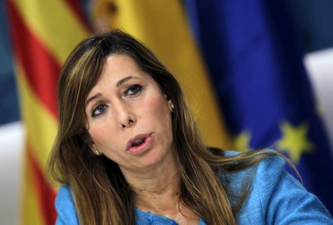 La presidenta del PPC, Alicia Sánchez-Camacho, durante la entrevista
