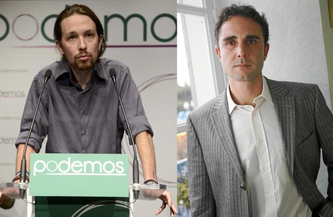 El líder de Podemos, Pablo Iglesias, y el del Partido X, Hervé...