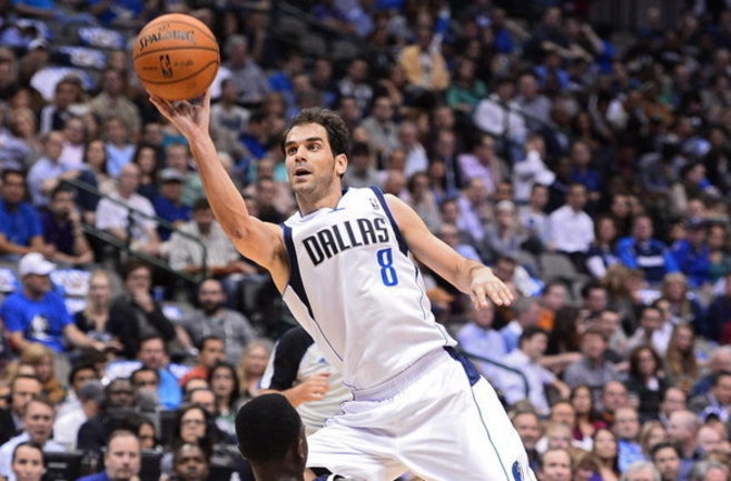 Calderón, en un partido con Dallas Mavericks