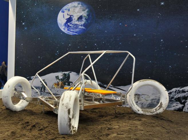 El vehículo chino para explorar la Luna presentado en la Feria de...