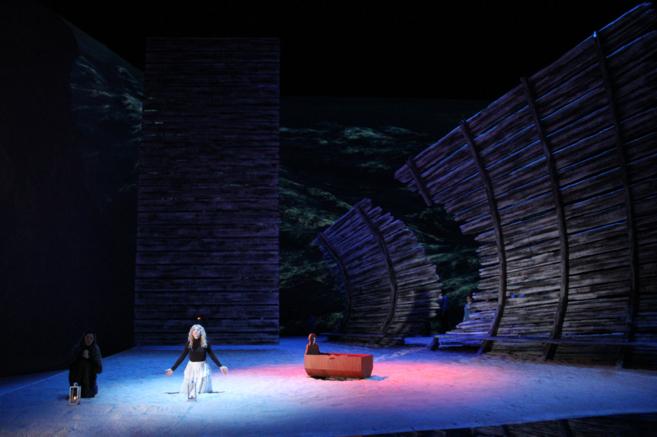 Imagen de uno de los ensayos de la ópera Maror.