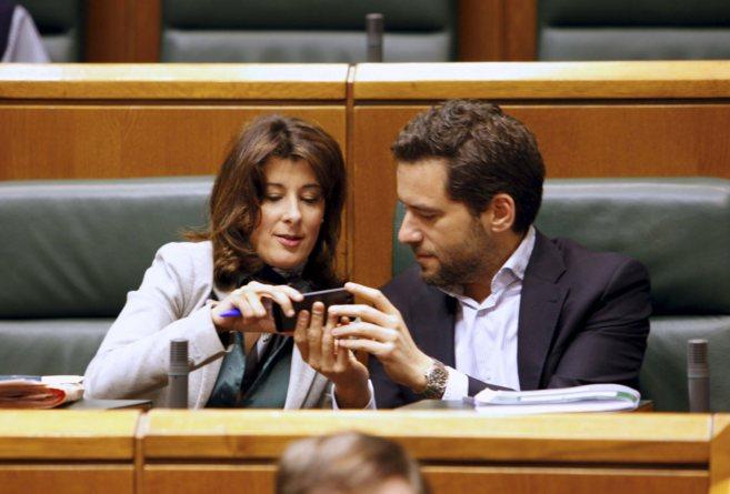 Laura Garrido, con Borja Sémper.