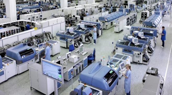 Vista principal de la fábrica de Siemens en la localidad alemana de...