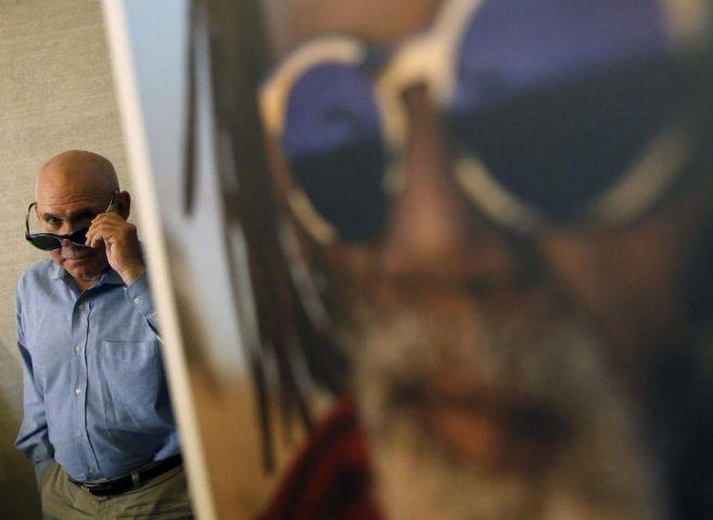El fotoperiodista estadounidense, Steve Mc Curry, en la presentación...