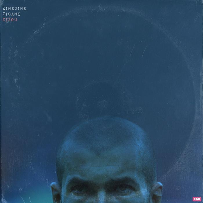 """Una de las escenas más recordadas de la historia del fútbol es el cabezazo de Zidane a Materazzi en la final de Francia contra Italia en el Mundial de Alemania de 2006. """"Los diseños de cada LP sugieren un estilo musical concreto. Quería que cada portada reflejara la personalidad del jugador"""", cuenta Taylor. """"Creo que Zidane era un jugador frío, era una de sus cualidades, y creo que el disco lo refleja"""", explica."""