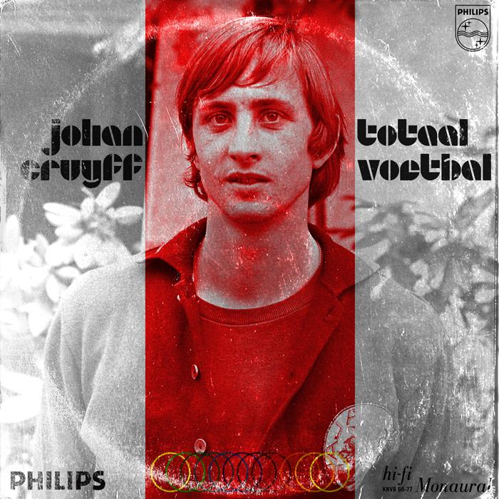'La Naranja mecánica' fue como se apodó al equipo neerlandés formado por Cruyff, Jongbloed y Rensenbrink (entre otros), que jugó la final de la Copa del Mundo en 1974. El equipo inventó el término de 'fútbol total': todos defienden, todos atacan. El sello, Philips Records, es también holandés.