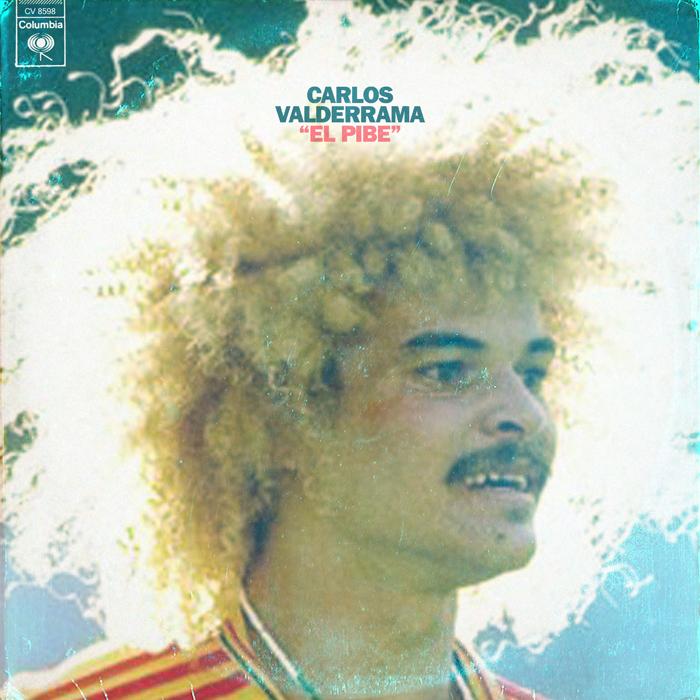 """""""El pelo que tenía Valderrama basta para pensar en él como un genio de la guitarra"""", dice el diseñador británico. """"El sello tenía que ser Columbia, por supuesto"""", añade, completamente convencido.  Columbia es la discográfica más antigua y entre sus artistas, por si había duda, estaba Santana en la misma época que Valderrama triunfaba en el fútbol.  El jugador es considerado uno de los mejores futbolistas de su país, Colombia."""
