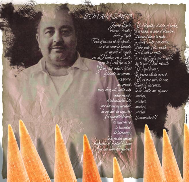 Ilustración que reproduce un transgresor poema de Manuel Fernández...