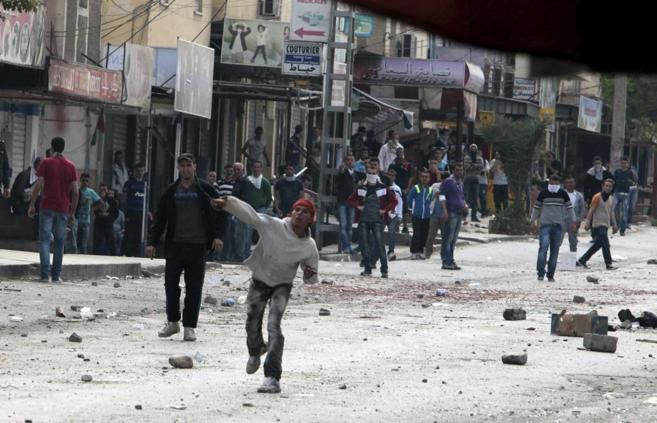 Manifestantes anti elecciones en la localidad de Machdallah, en...