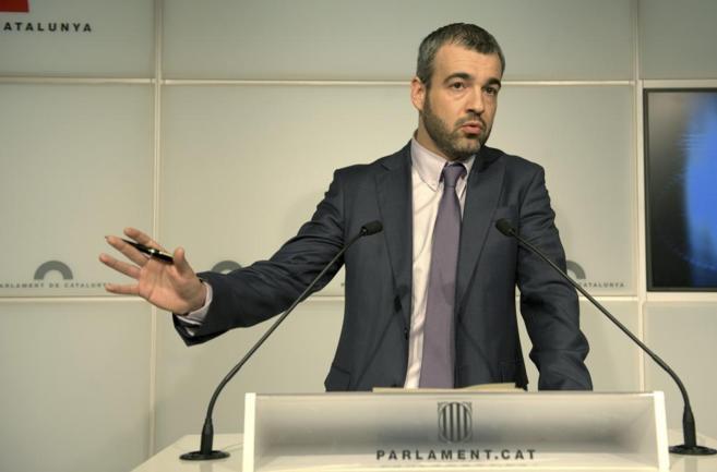 El portavoz socialista Maurici Lucena en una conferencia en el...