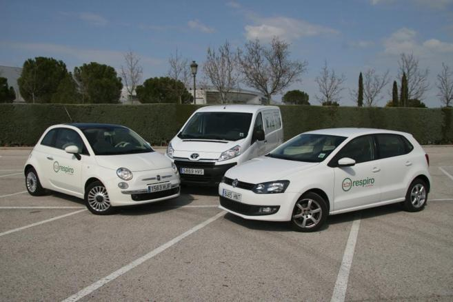 Tres de los vehículos que ofrece la empresa Respiro.