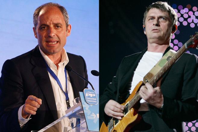 El ex presidente valenciano Francisco Camps y el músico Mike...