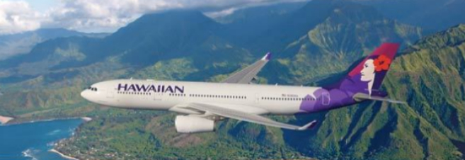 Imagen de un Airbus de Hawaiian Airlines