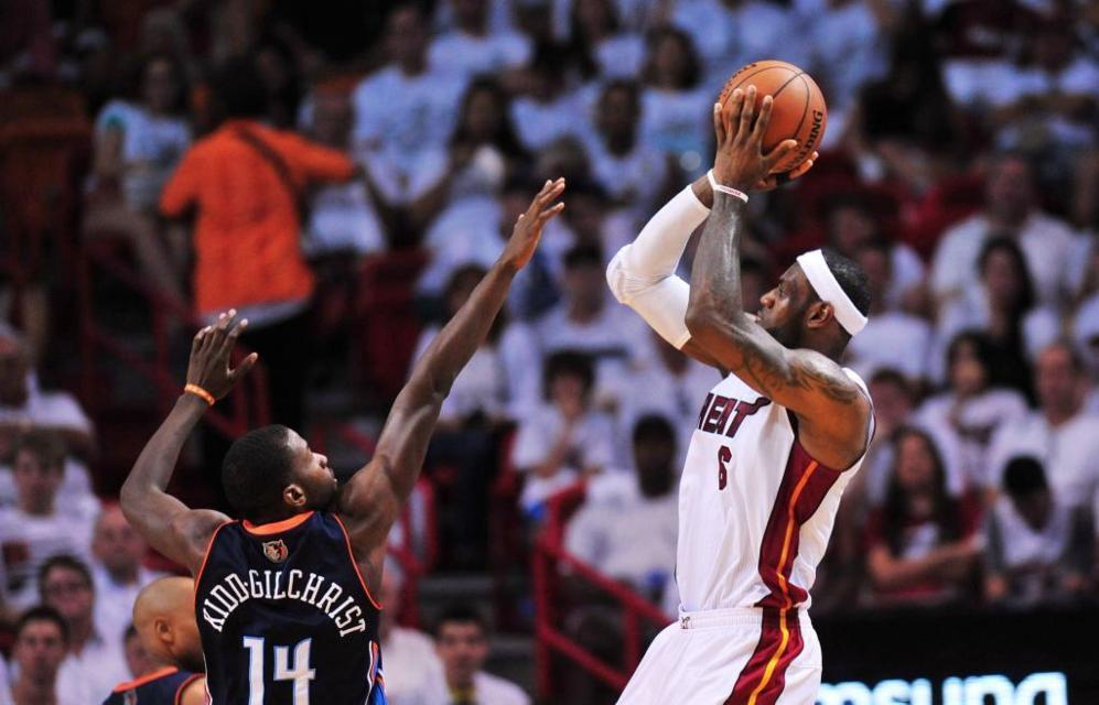 LeBron James y sus Heats esperaron al último cuarto para ponerse...