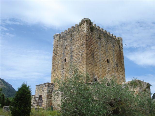 Imagen exterior del Castillo de los Velasco en Lezana de Mena, Burgos.