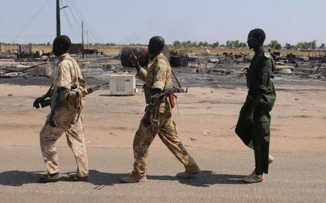 Miembros del insurgente Ejército Popular de Liberación de Sudán...