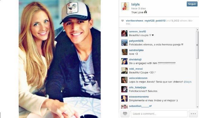 Imagen del perfil de Instagram de Laia donde le declara a Alexis su...