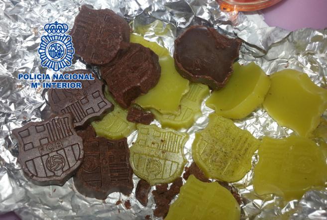 Imagen facilitada por la Policía Nacional de los dulces adulterados.