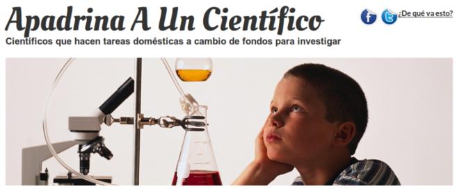 Imagen de la campaña 'Apadrina a un científico'.