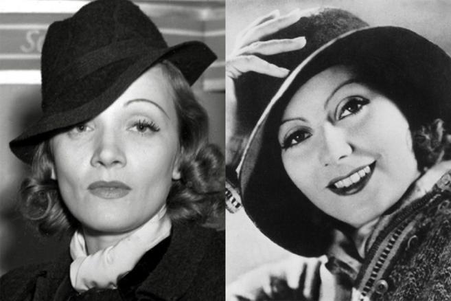 Marlene Dietrich y Greta Garbo.