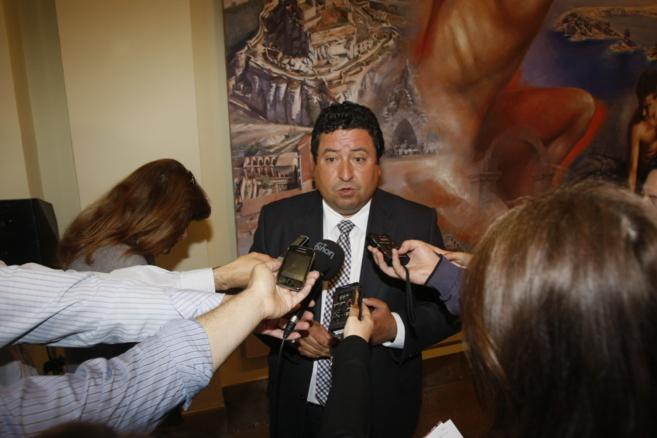 Javier Moliner, presidente del PP de Castellón, este martes valorando...