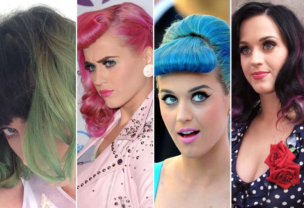 Katy Perry, 29 años. A la cantante la hemos visto con el pelo de...