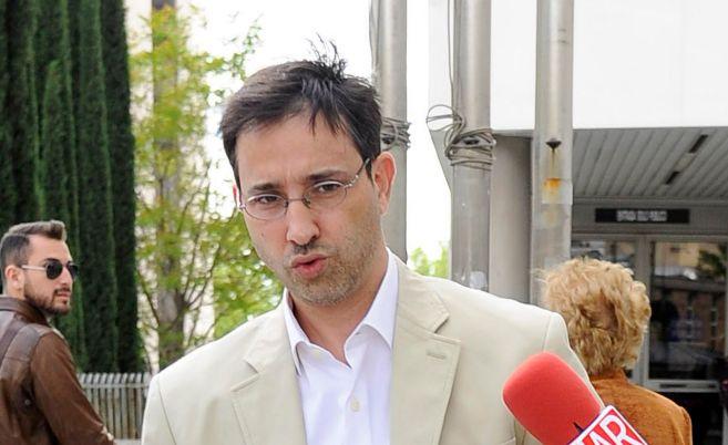 David Rocasolano, esta mañana en los juzgados de Plaza de Castilla.
