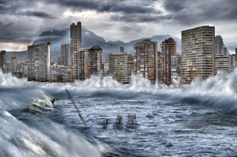 Recreación de cómo afectará a la costa de Benidorm el cambio...