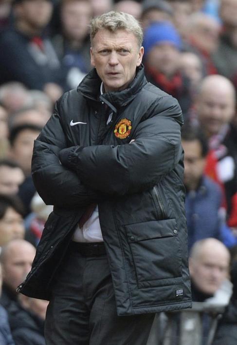 David Moyes durante un partido del Manchester United