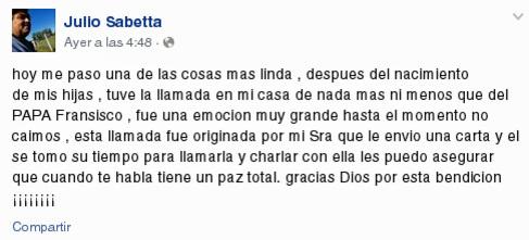 El actual marido de la divorciada argentina revela en Facebook que le...