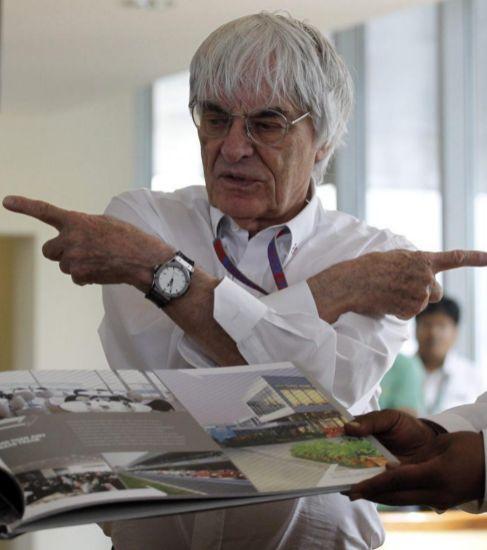 Bernie Ecclestone, en Nueva Delhi, en 2012.