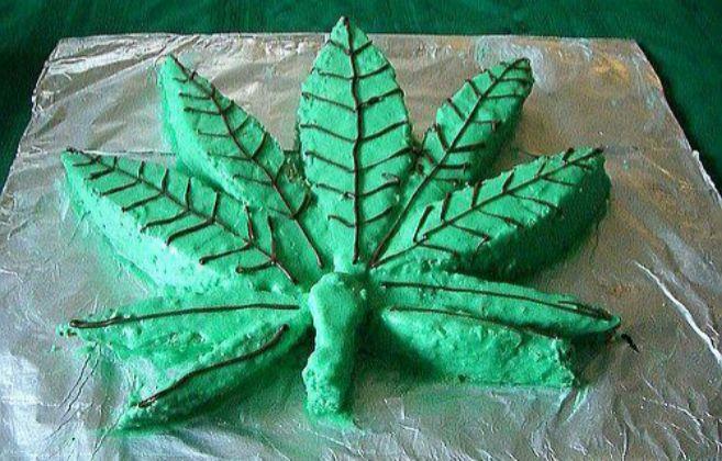 Una tarta elaborada a base de marihuana