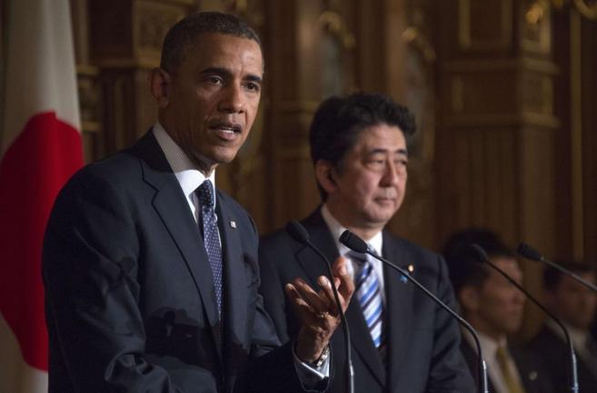Obama, durante su rueda de prensa en Tokio.