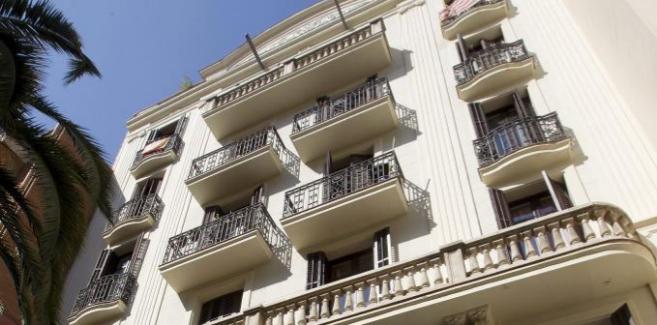 Fachada de un inmueble de la ciudad de Barcelona.