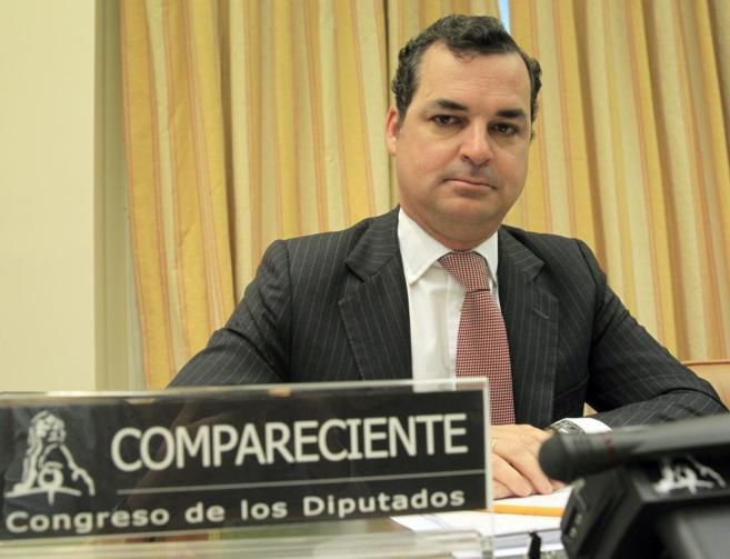El presidente de RTVE, Leopoldo González Echenique, durante una...