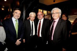 Pedro J. Ramírez, el conseller Ferran Mascarell, el presidente del...