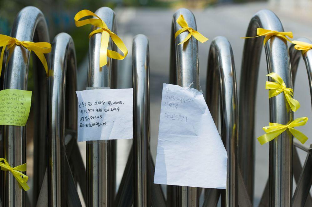 Cintas amarillas que simbolizan esperanza en el retorno de los...