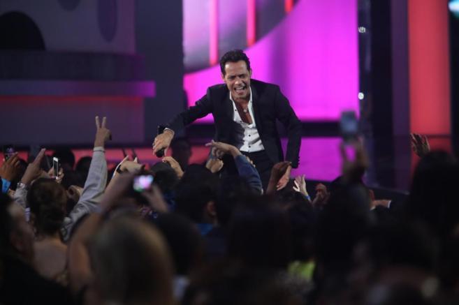 Marc Anthony durante su actuación.