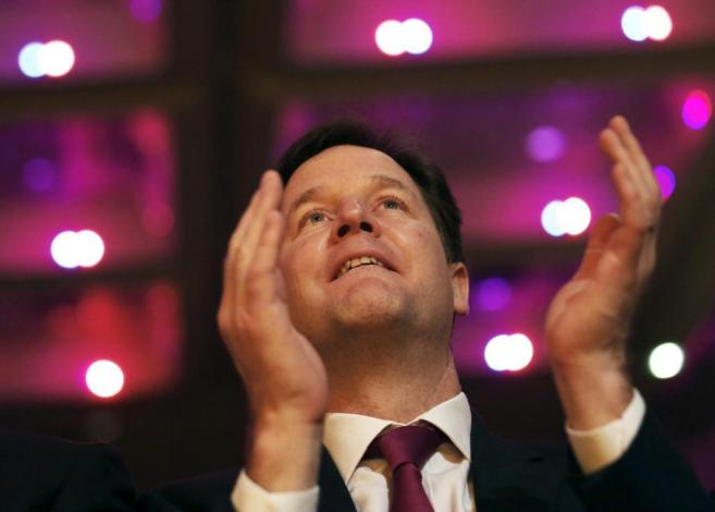El viceprimer ministro británico, Nick Clegg.