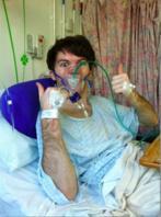 El enfermo de cáncer terminal Stephen Sutton,