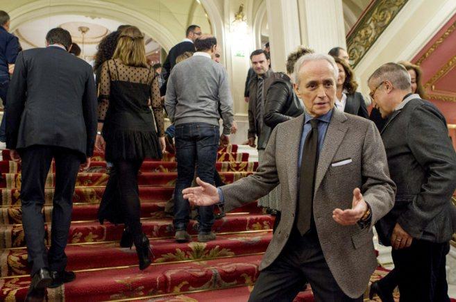 Josep Carreras durante la presentación de la ópera en el Teatro...