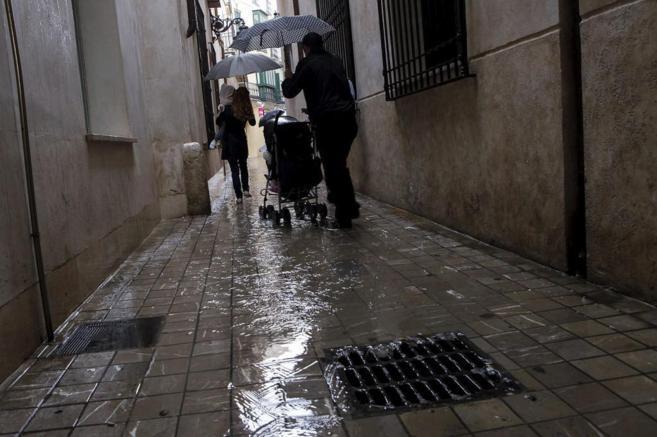 Día de lluvia en Málaga en el inicio de esta semana.