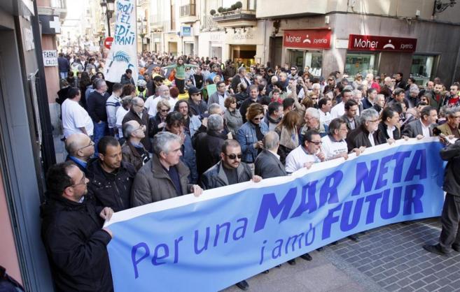 Una de las manifestaciones en Castellón en defensa del medio ambiente...